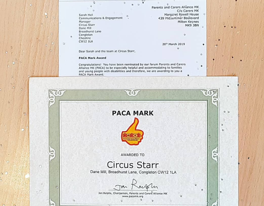 Circus Starr wins PACA Mark Award