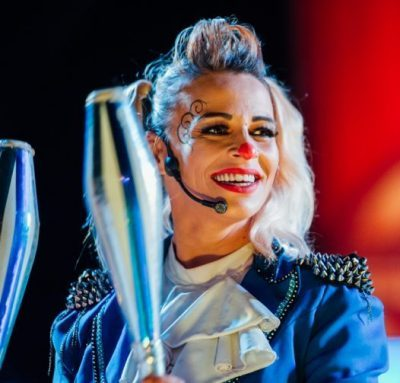 Celebrating International Women's Day with the only female clown in the UK….Andreea!